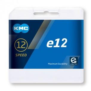 Cadena KMC eBike e12v  Gris 130 eslabones