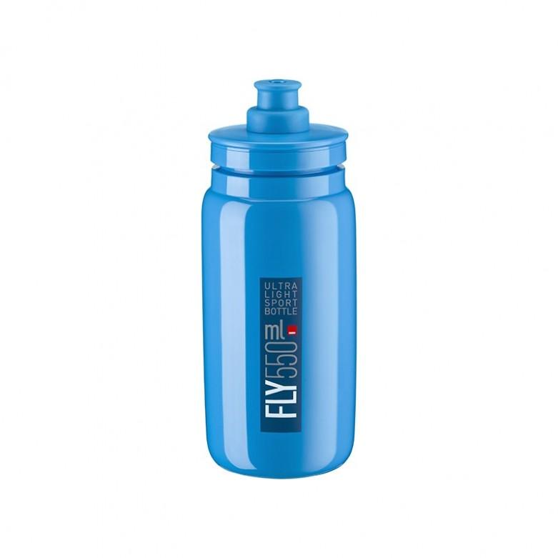 Bidón Elite Fly Azul Logo Azul 550 ml
